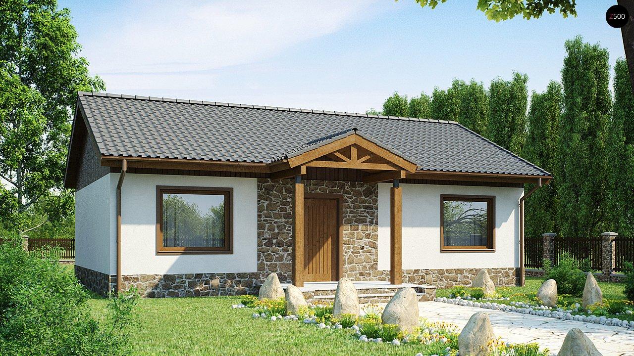 Экономичный в реализации одноэтажный дом с просторной гостиной и двумя спальнями. 2