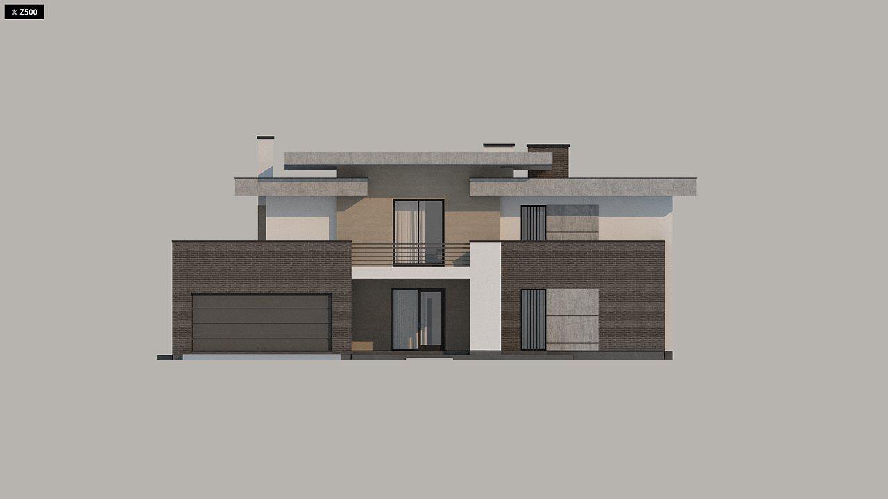 Красивый и комфортный дом с плоской кровлей, гаражом на две машины и просторными террасами. - фото 16