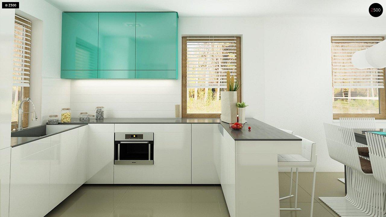 Небольшой стильный и практичный дом с мансардными окнами. - фото 9
