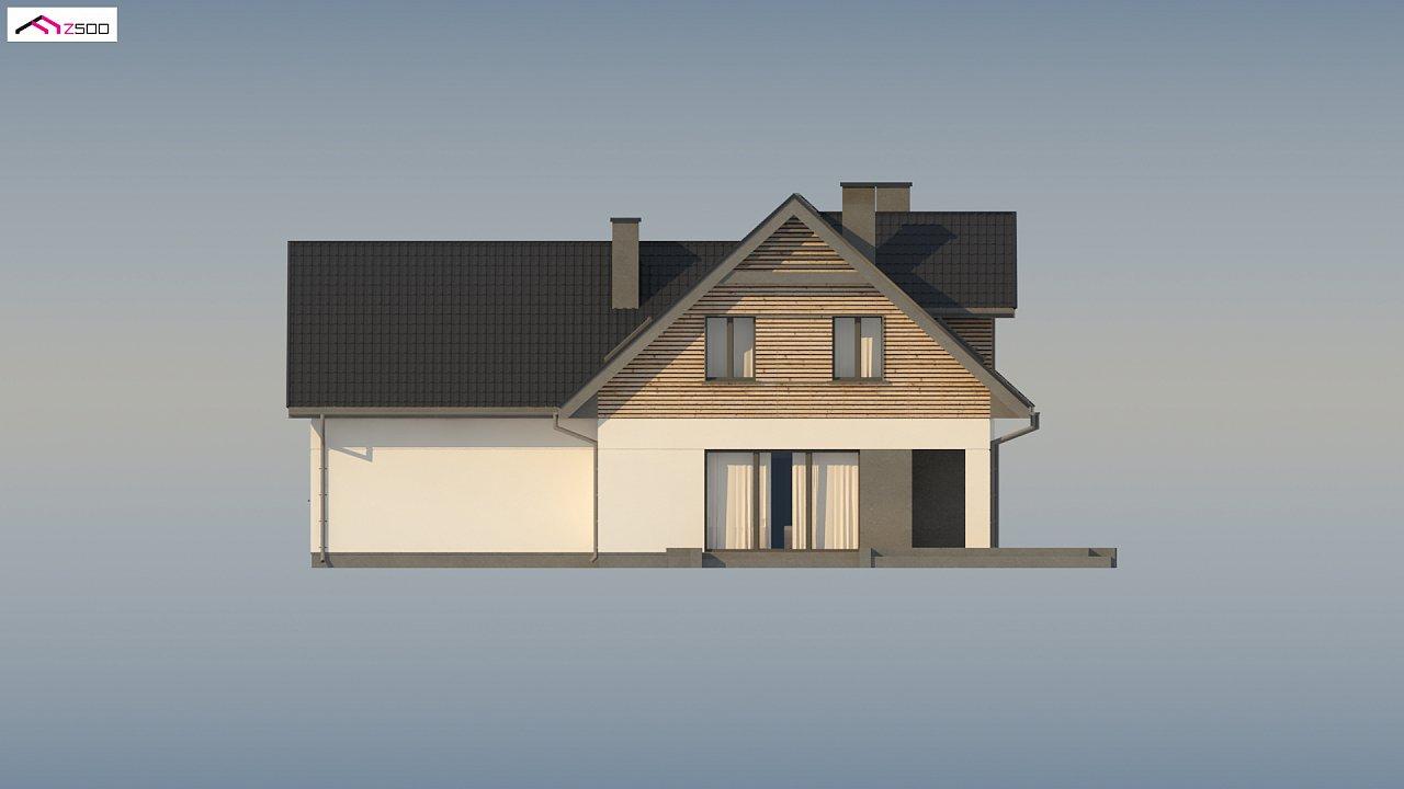Стильный и аккуратный мансардный дом с гаражом для двух машин. 9