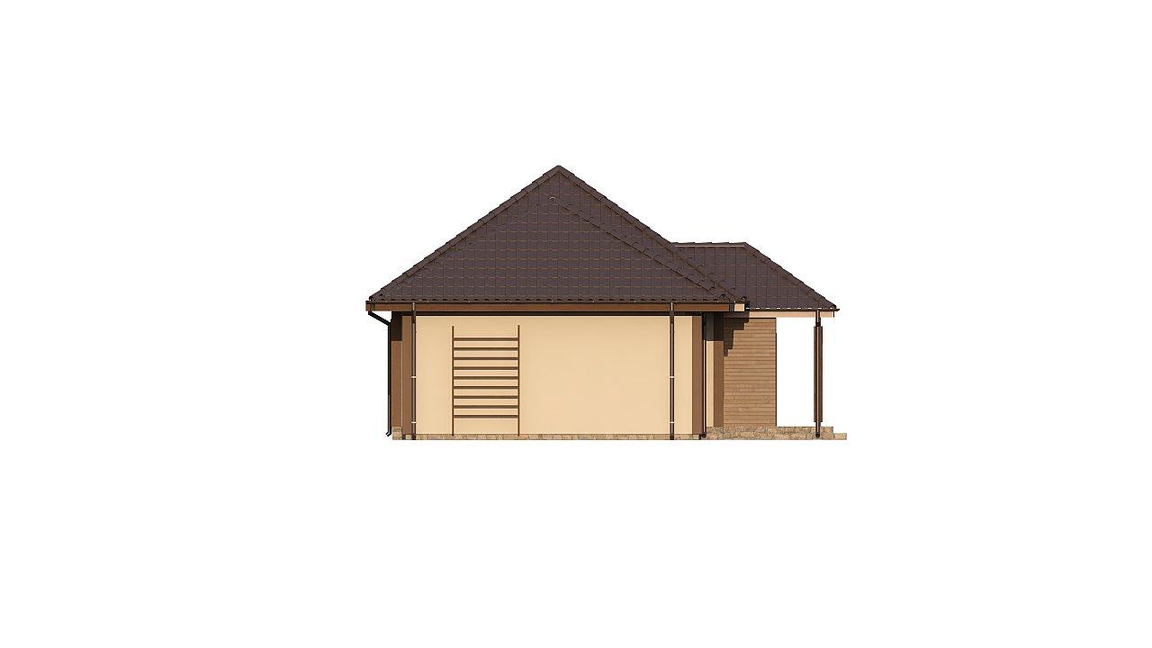 Зеркальная версия проекта Z73 с гаражом с левой стороны дома - фото 5