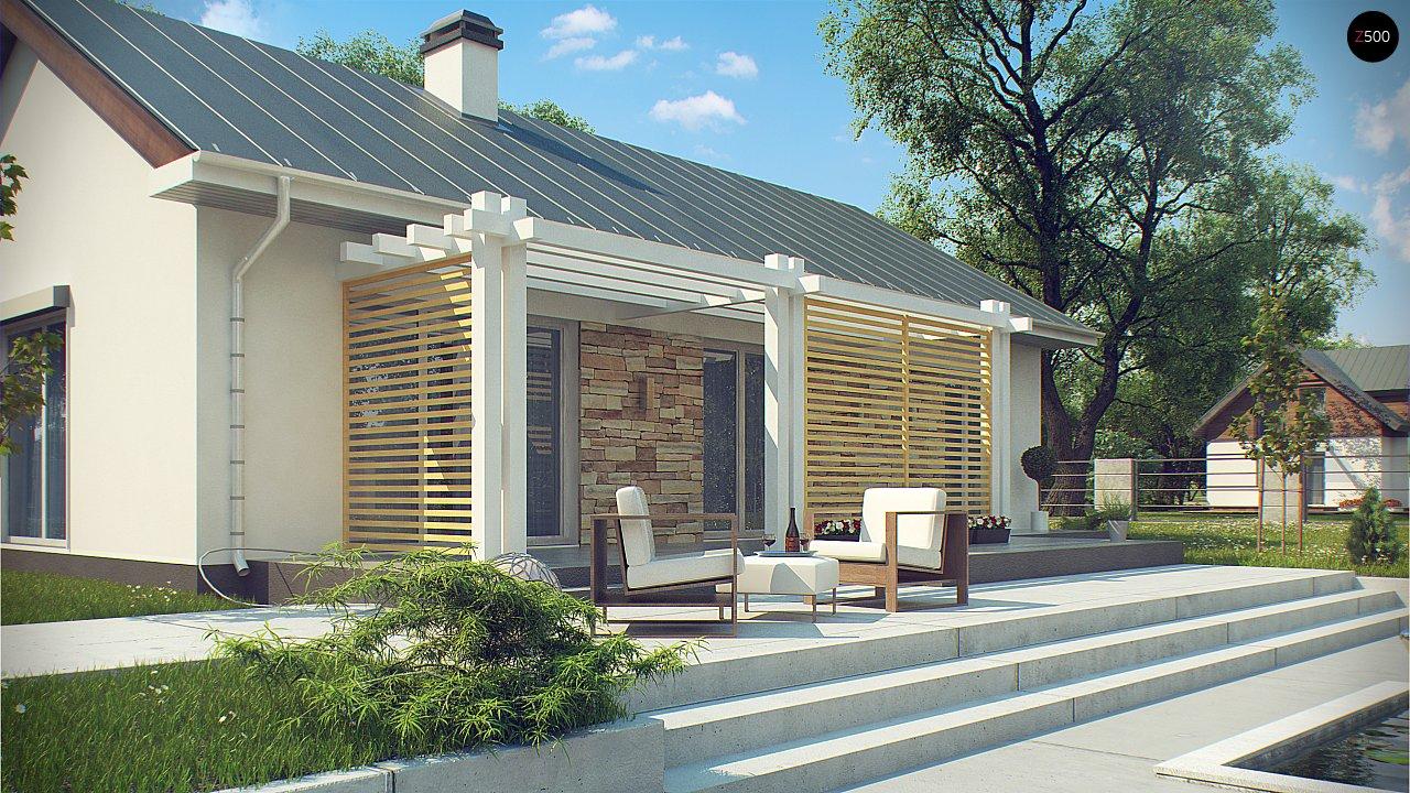 Простой и элегантный одноэтажный дом. 4
