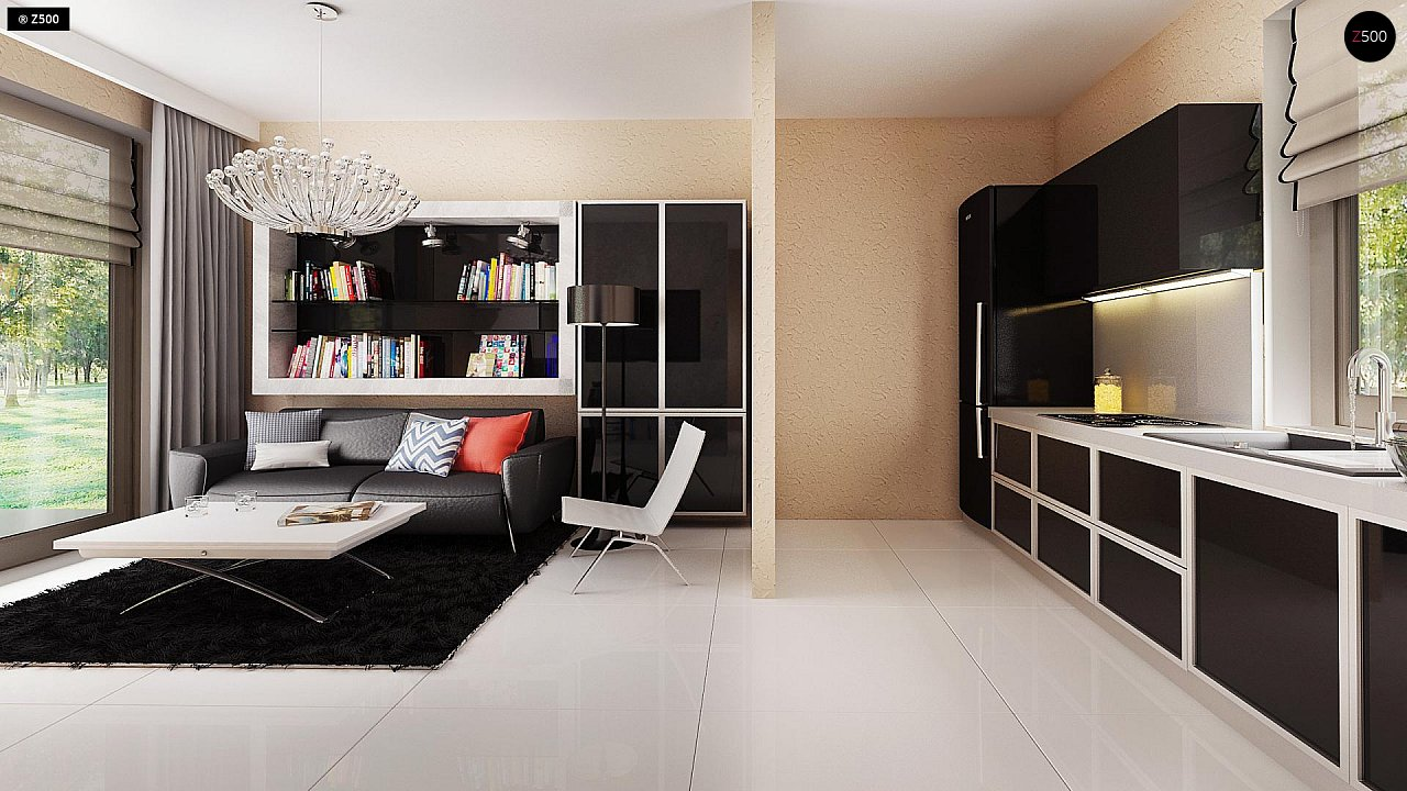 Маленький одноэтажный дом, оснащенный всем необходимым для круглогодичного проживания. 6