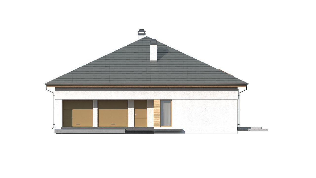 Проект просторного дома с многоскатной крышей. 6