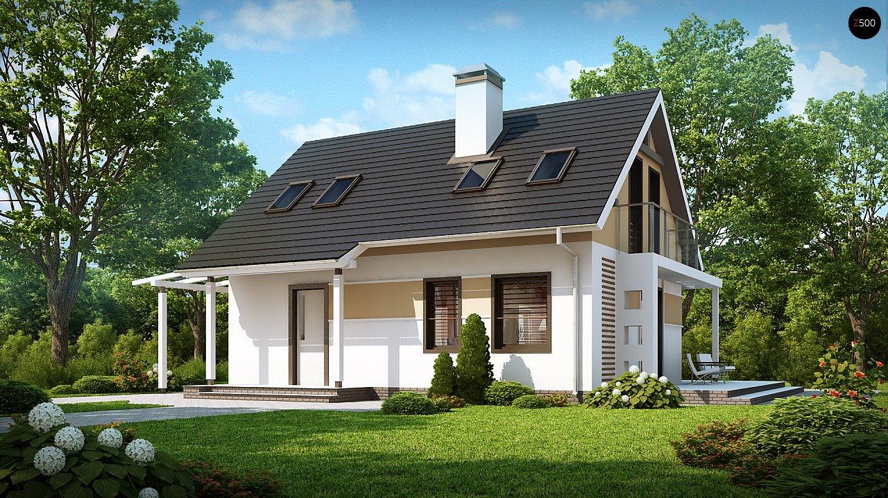 Экономичный в строительстве и реализации дом с удобной планировкой, с навесом для автомобиля. - фото 2