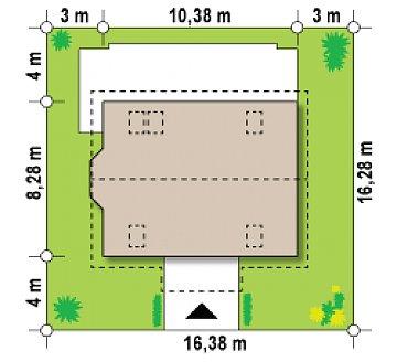 Версия проекта Z14 c боковым эркером план помещений 1