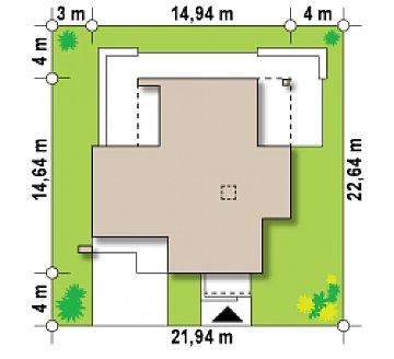 Комфортный современный дом с дополнительным помещением для коммерческого использования. план помещений 1