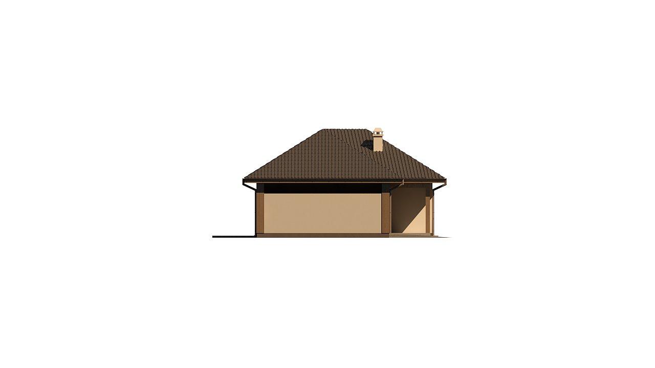 Версия проекта Z15 со вcтроенным гаражом с левой стороны. 3