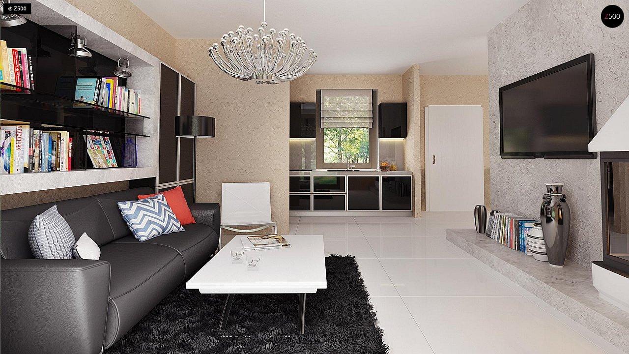 Маленький одноэтажный дом, оснащенный всем необходимым для круглогодичного проживания. 5