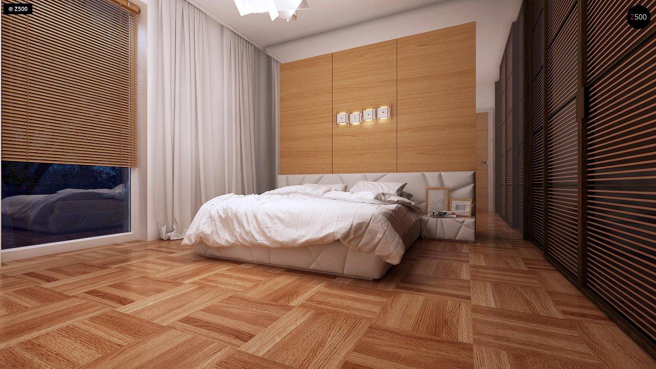 Компактный одноэтажный дом простой формы с возможностью обустройства чердачного помещения. 11