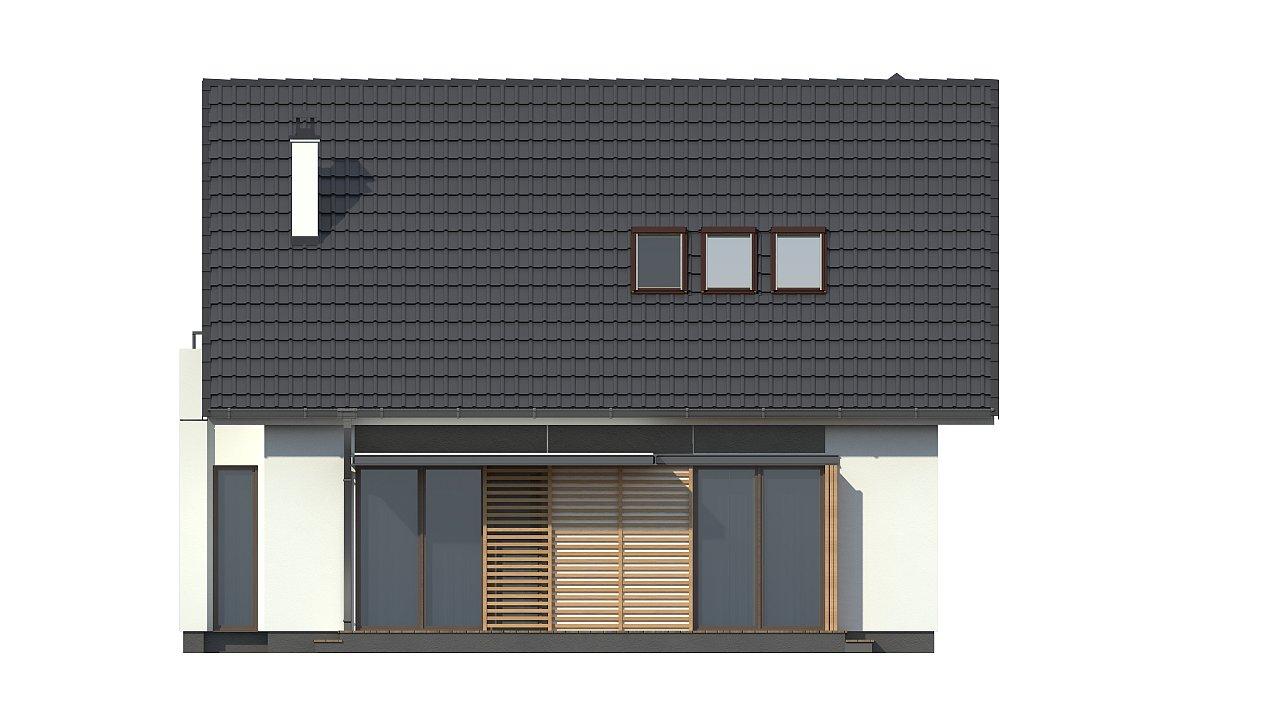 Проект простого в строительстве дома с двускатной кровлей. 21