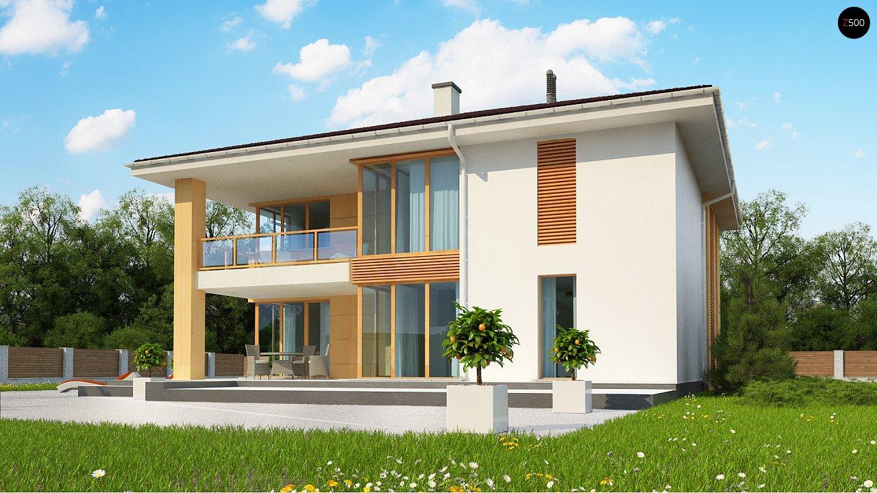 Проект комфортабельного двухэтажного коттеджа современного дизайна 4