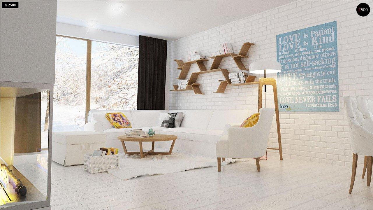 Проект традиционного одноэтажного дома с возможностью обустройства мансарды. 5