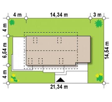 Практичный и уютный дом с оригинальным оформлением фасадов, идеальный для неглубокого участка. план помещений 1