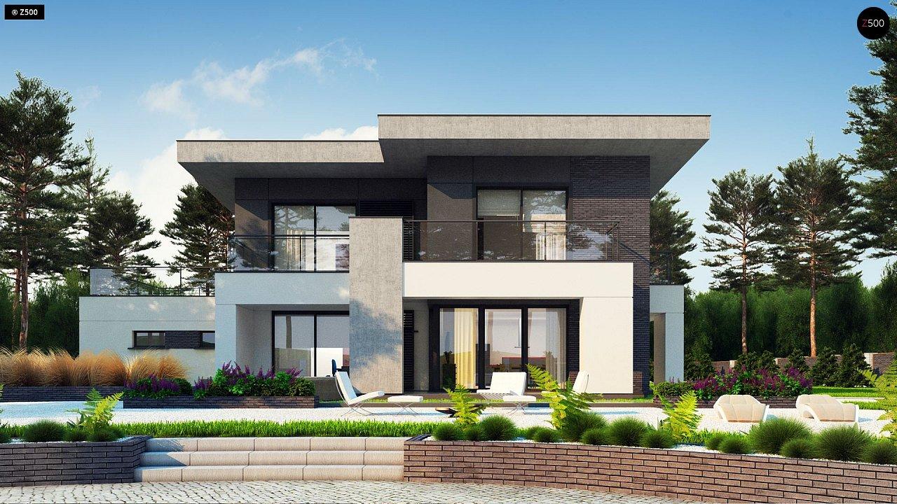 Современный стильный двухэтажный дом, с гаражом для двух машин 5