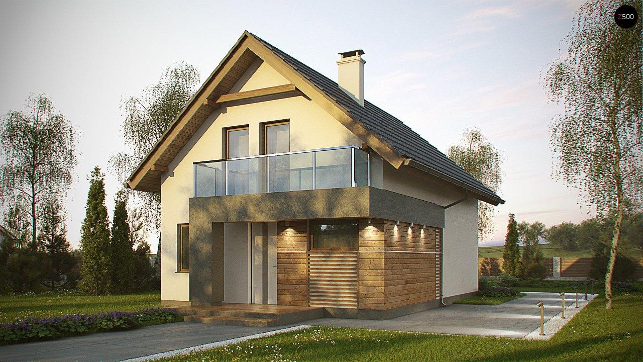 Компактный и удобный дом традиционной формы, подходящий, также, для узкого участка. 1