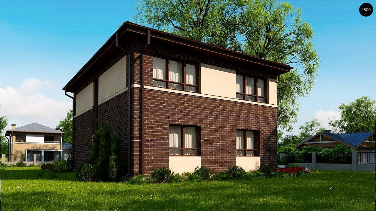 Проект элегантного дома с четырехскатной кровлей. 3