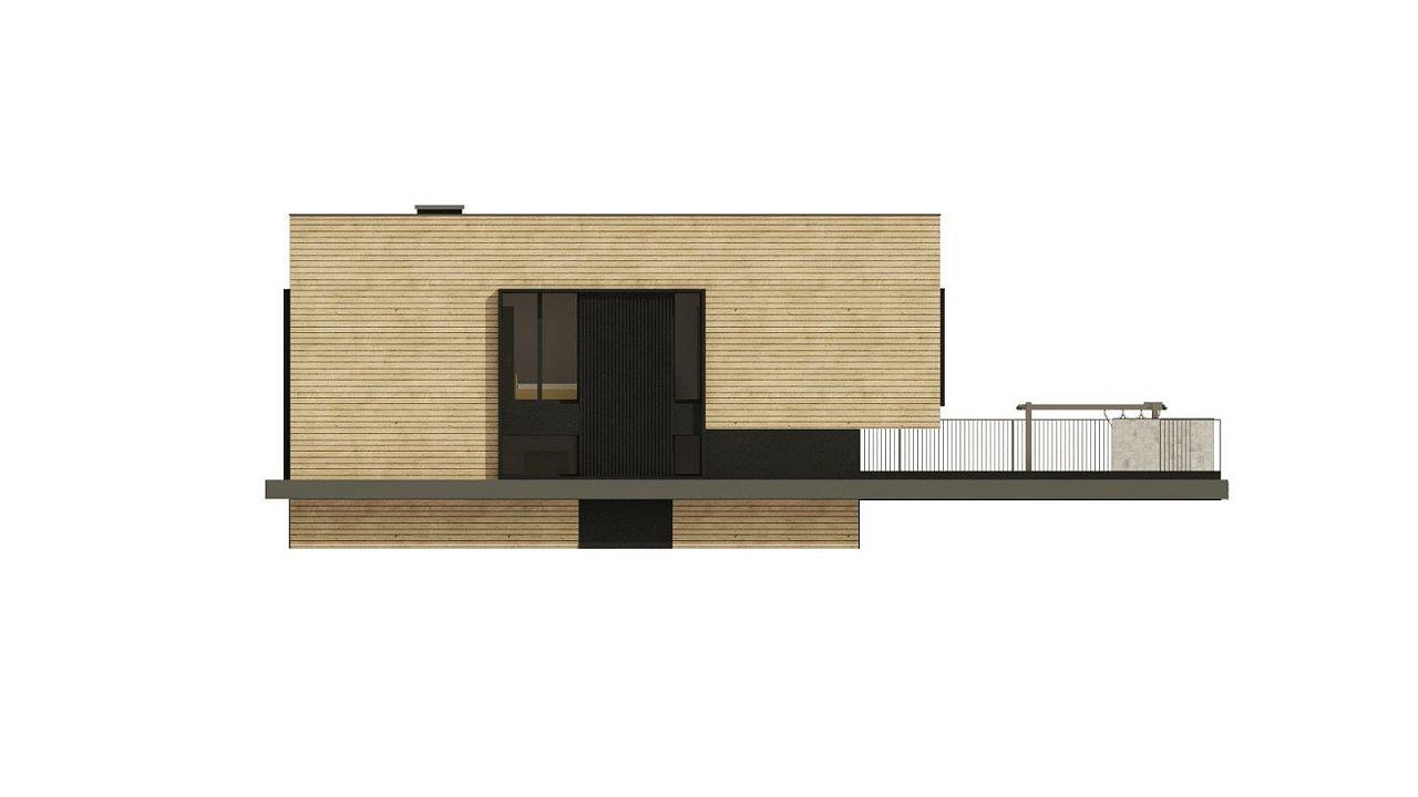 Проект современного дома с плоской кровлей и подземным гаражом. 9