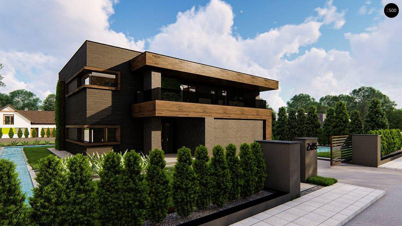 Современный двухэтажный дом с плоской кровлей 4