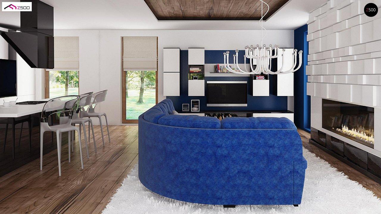 Проект удобного и красивого мансардного дома с гаражом на 2 машини и 3 спальнями. 6