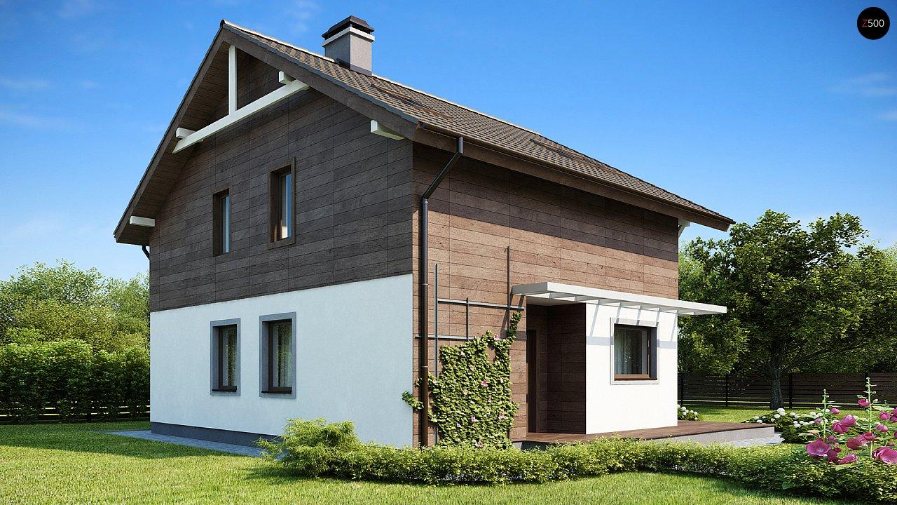 Проект двухэтажного дома с большой площадью остекления. 2