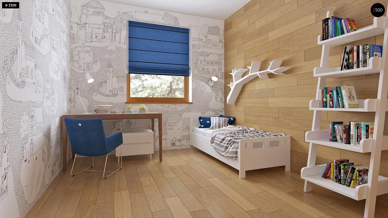 Аккуратный одноэтажный дом с деревянной облицовкой фасадов, адаптированный для каркасной технологии. 12