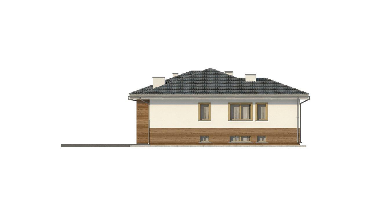 Красивый и комфортный однэтажный дом с цоколем 9