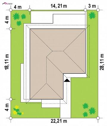 Проект комфортного и функционального одноэтажного дома. план помещений 1