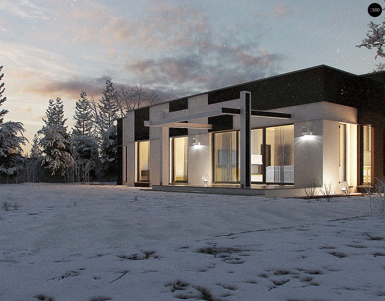 Одноэтажный комфортный дом в стиле хай-тек. 13