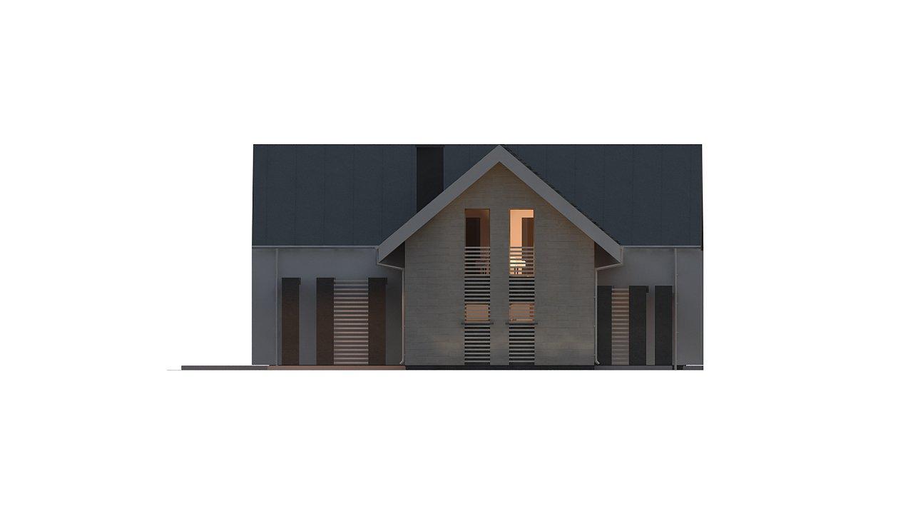 Современный мансардный дом с гаражом на две машины - фото 7