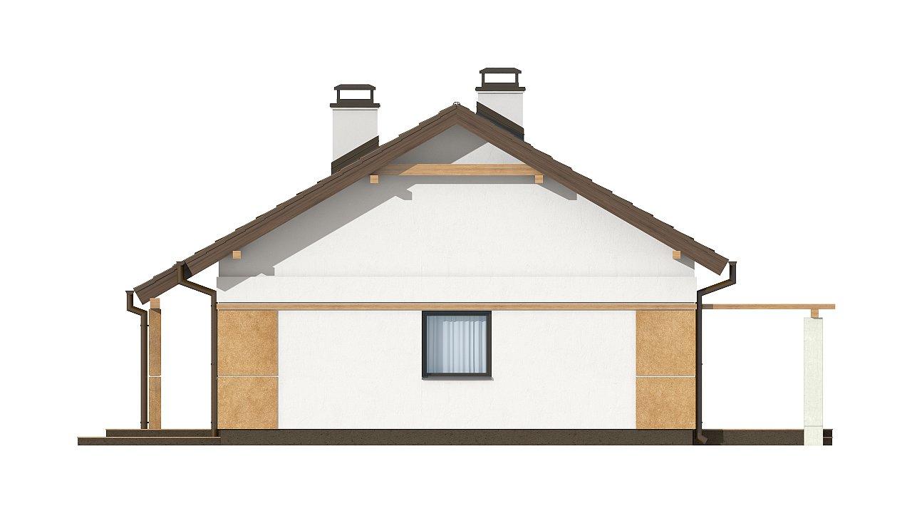Компактный, уютный одноэтажный дом с двускатной крышей. 16