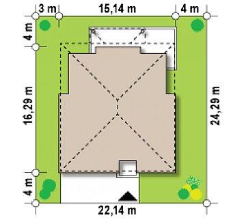 Проект комфортной двухэтажной виллы в традиционном стиле. план помещений 1