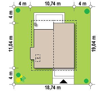 Традиционный дом с дополнительной комнатой на первом этаже и эркером в обеденной зоне. план помещений 1