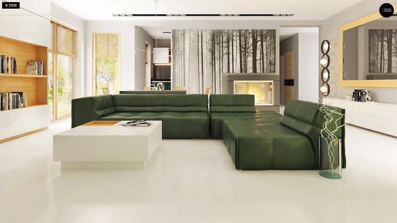 Прекрасное сочетание строгих минималистичных форм и уютного практичного интерьера. 7