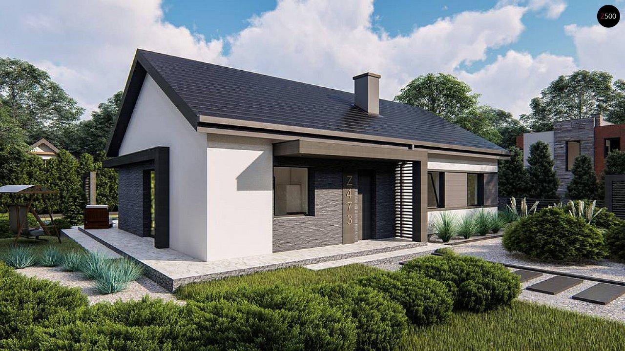 Классический одноэтажный дом с двускатной крышей 1