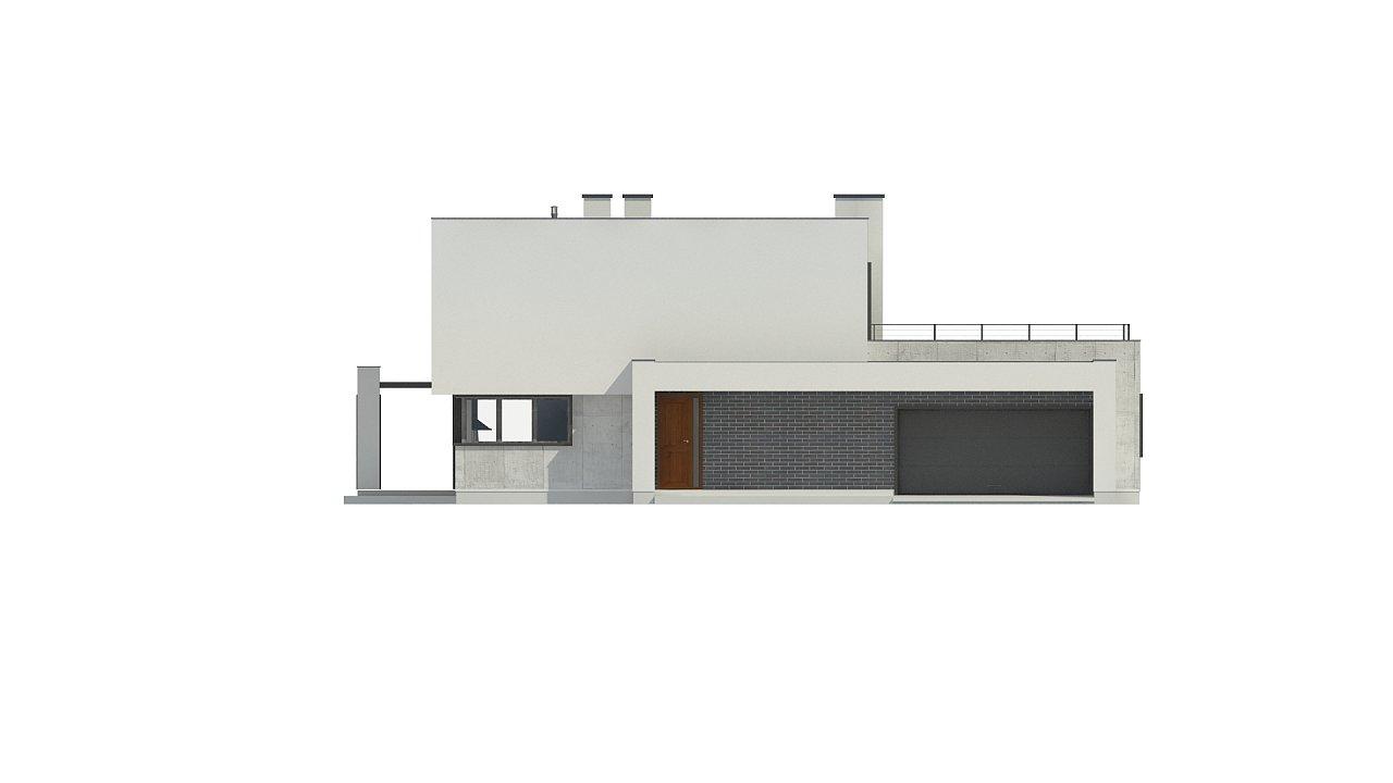 Современный двухэтажный дом с просторной террасой и гаражом на две машины. - фото 11