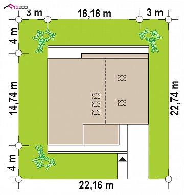 Современный мансардный дом со вторым светом план помещений 1