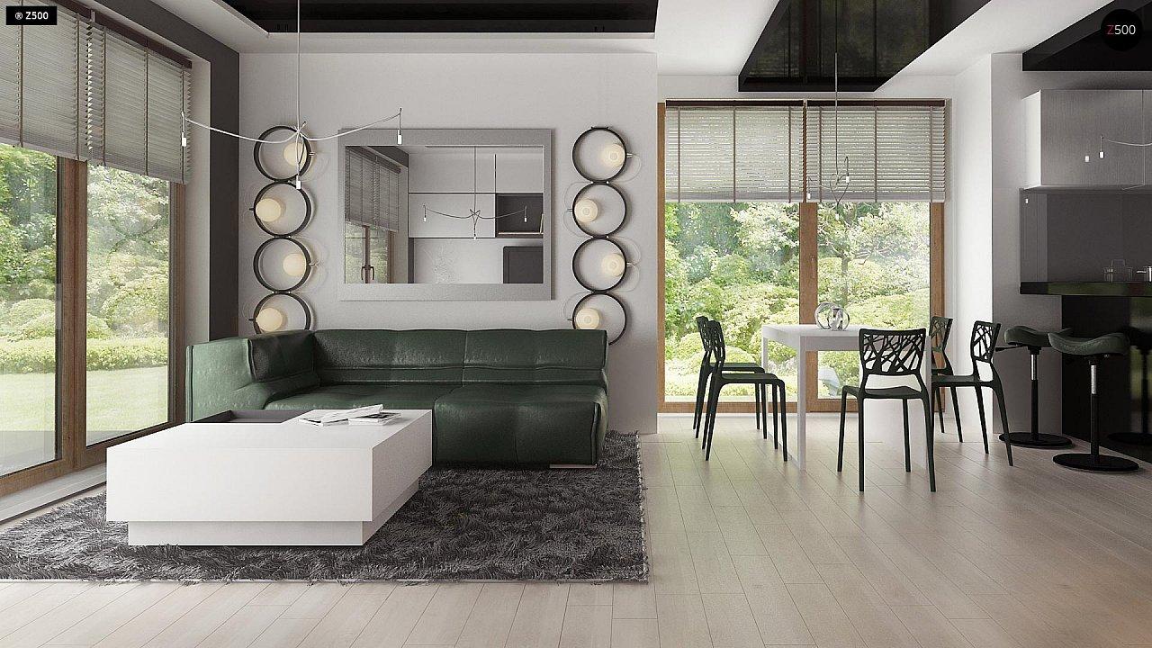 Дом традиционной формы с современными элементами в архитектуре. Уютный и функциональный интерьер. - фото 5