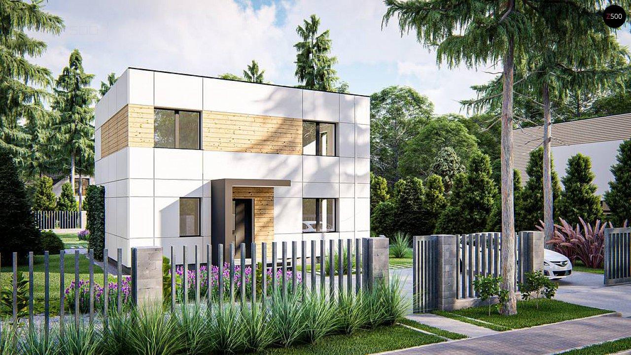Современный двухэтажный дом с плоской крышей 2