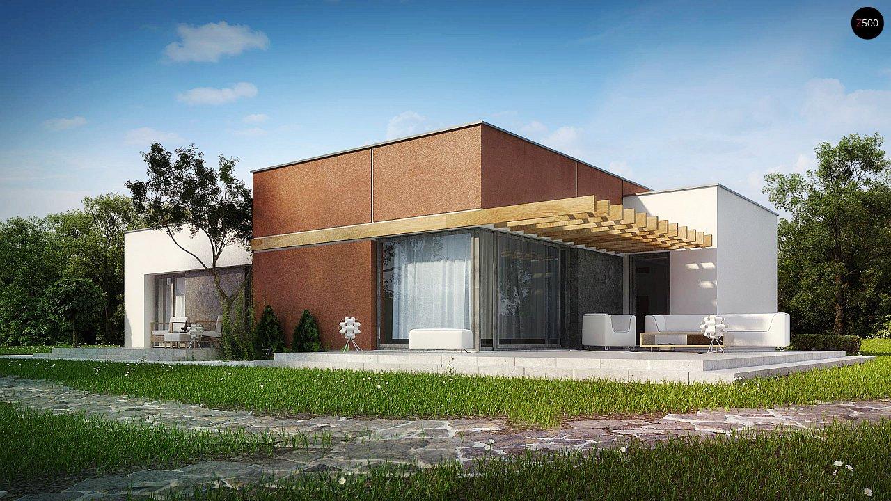 Одноэтажный дом в стиле хай-тек с четырьмя спальнями. - фото 1