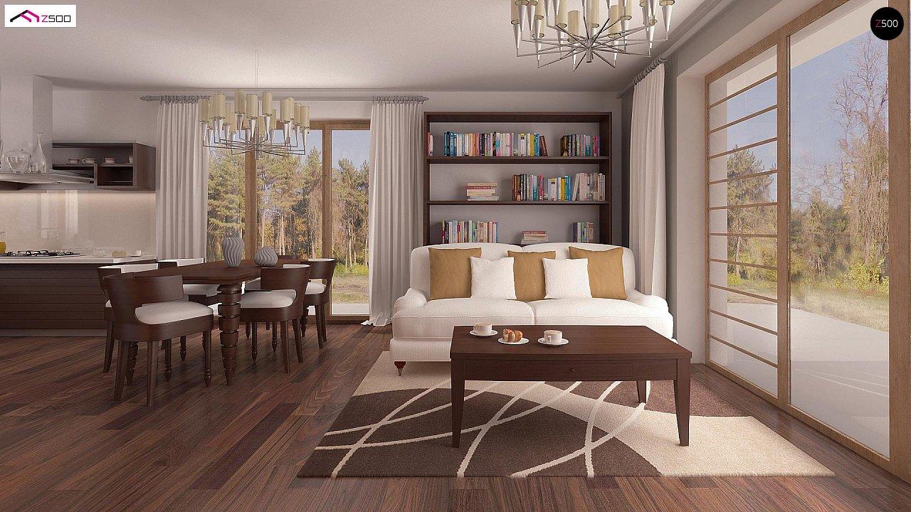 Проект простого и аккуратного дома с дополнительной ночной зоной на первом этаже. 3