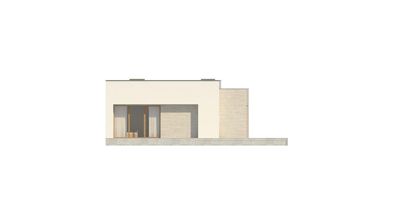 Одноэтажный дом в современном стиле, с большими застекленными окнами 20