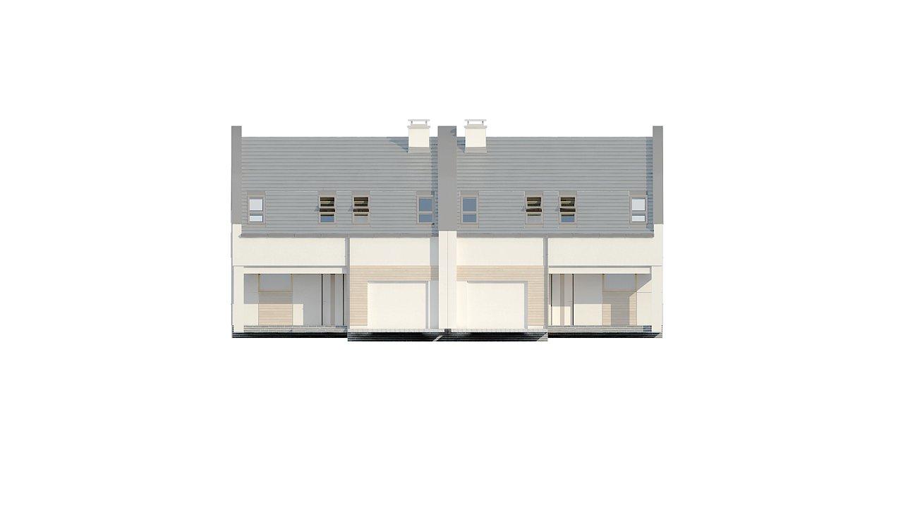 Проект домов для симметричной застройки стильного современного дизайна. 5