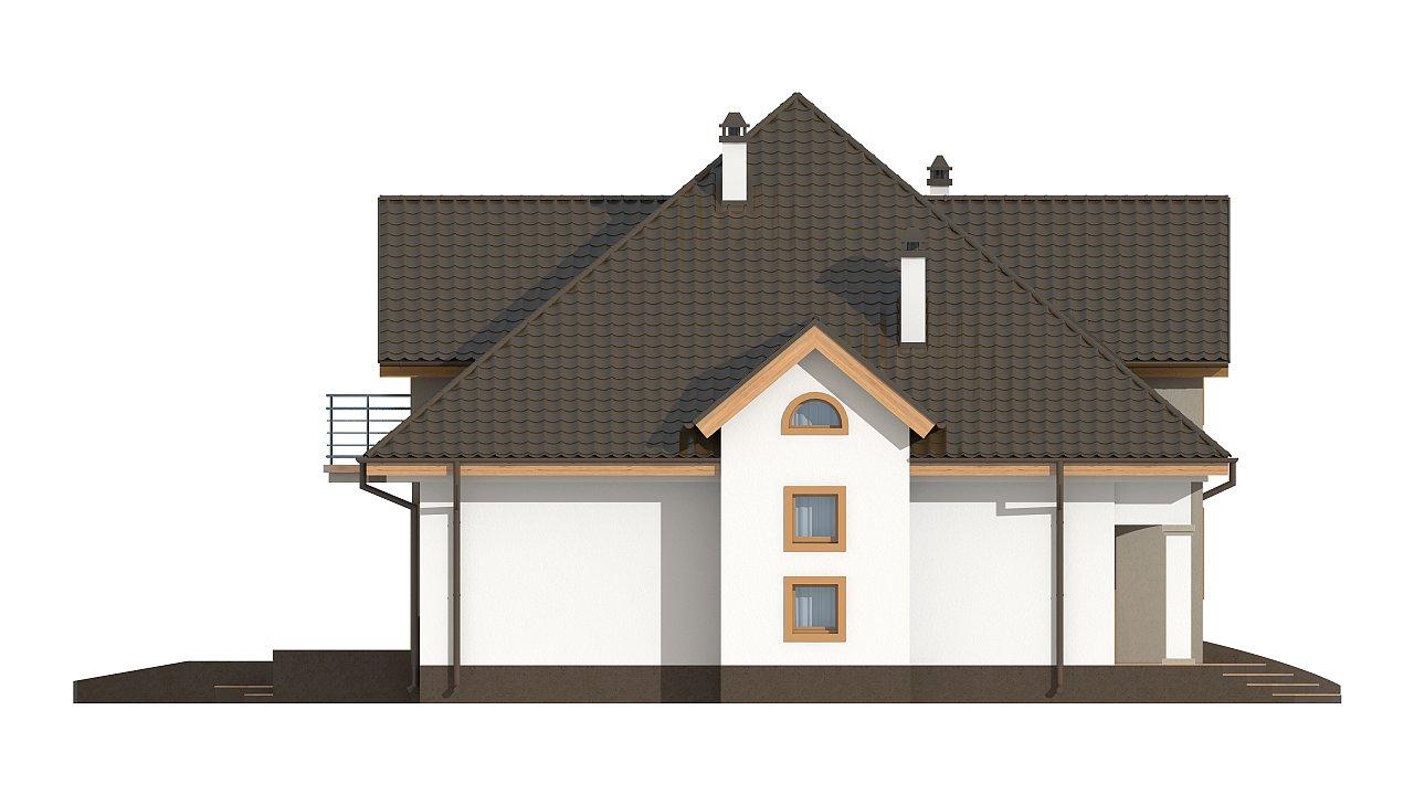 Классический мансардный дом с балконами. 29