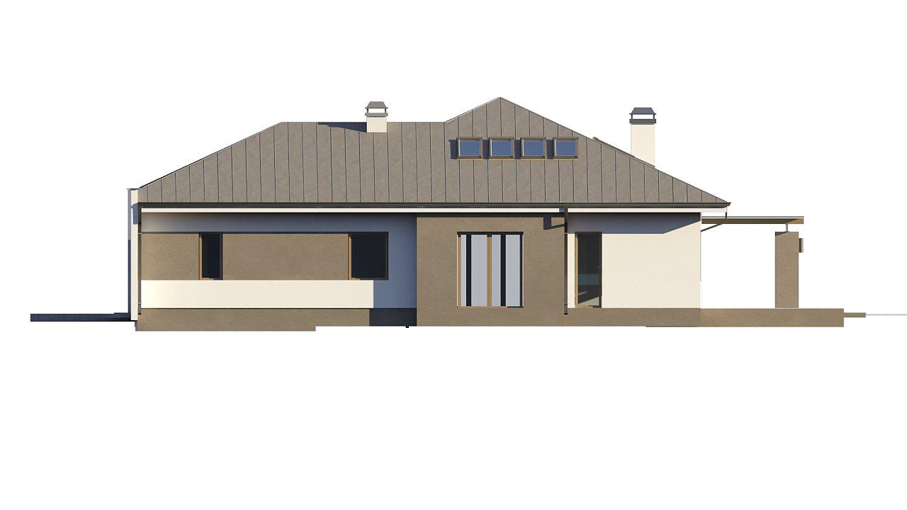 Комфортный элегантный дом с тремя спальнями и выступающим фронтальным гаражом. 17