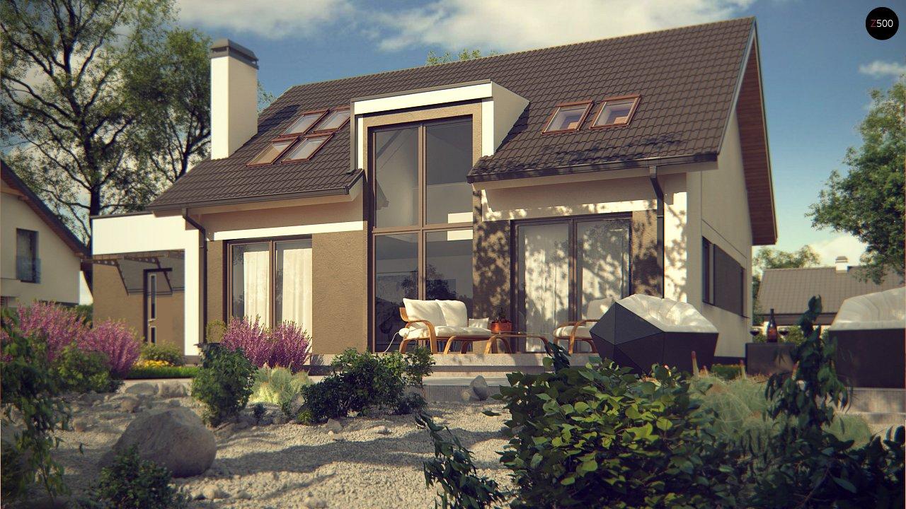 Комфортный дом с оригинальным остеклением в гостиной и вторым светом. - фото 3