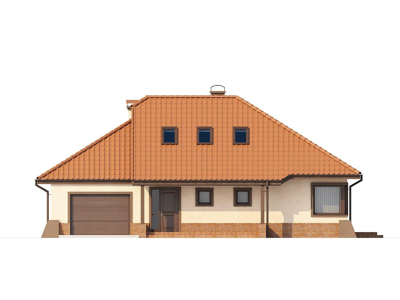 Просторный дом с гаражом, большим хозяйственным помещением и угловой террасой. - фото 3