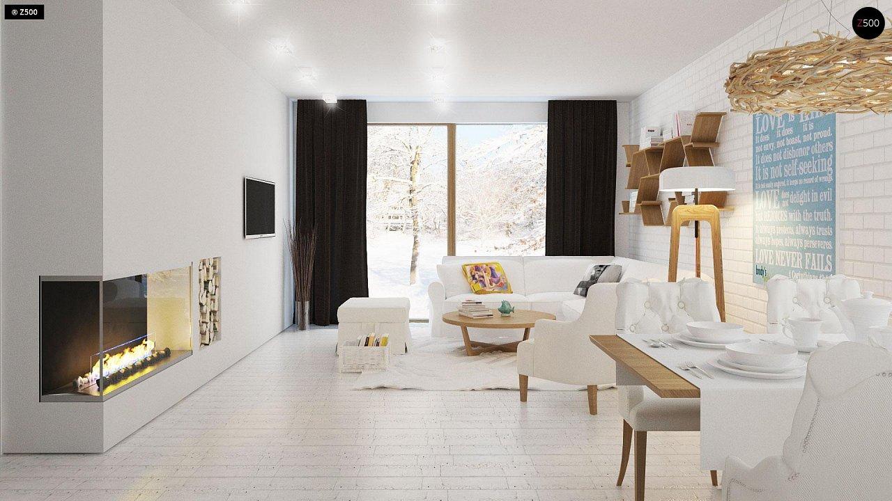 Проект традиционного одноэтажного дома с возможностью обустройства мансарды. 4