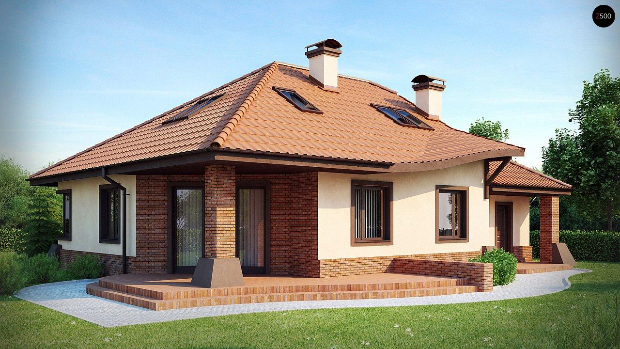 Просторный дом с гаражом, большим хозяйственным помещением и угловой террасой. - фото 1