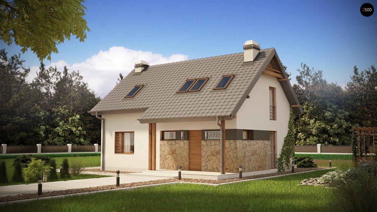 Практичный аккуратный дом с мансардой, с удобной функциональной планировкой. 1